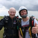 Carl, a Watermark Resident, getting ready to sky dive