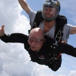 Carl Osburn skydiving with cheeks flapping