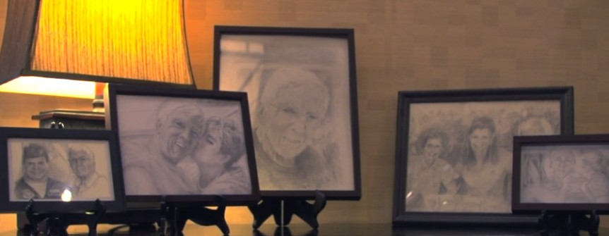 Detailed pencil drawings by a Watermark Retirement Communities resident