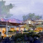 Artist rendering of The Hacienda at the Canyon at night