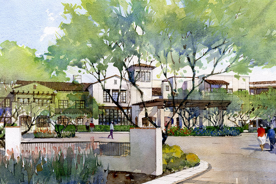 Artist Rendering of Hacienda at the Canyon